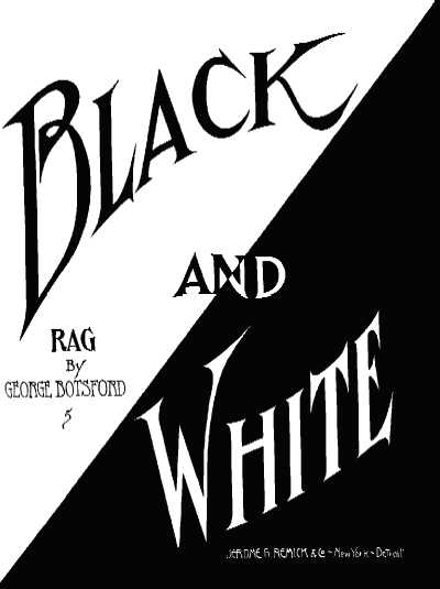 black and white rag cover