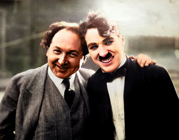 charlie with pianist leopold godowsky