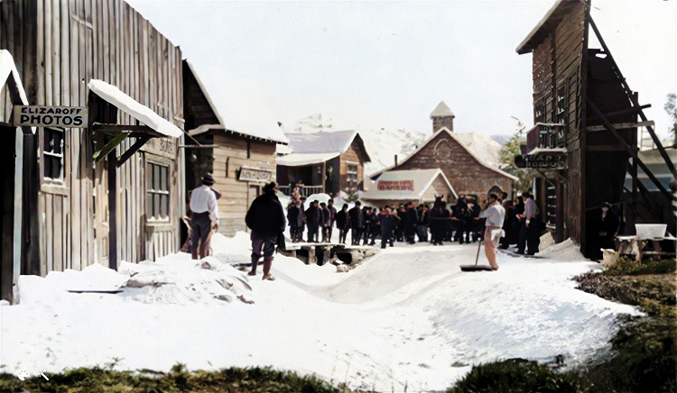 the klondike town set for the gold rush