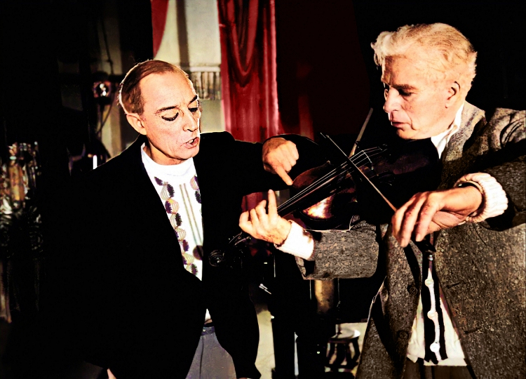 chaplin with buster keaton in limelight