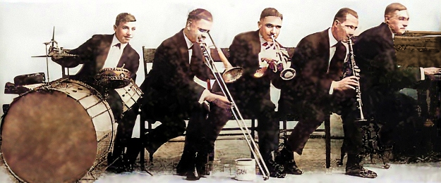 the original dixieland jazz band around 1918