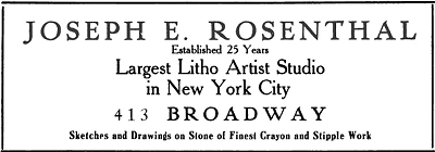 ad for rosenthal studio