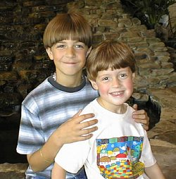 Alex and Zach, May, 2000