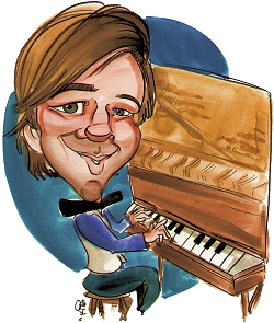 'Perfessor' Bill Edwards Caricature